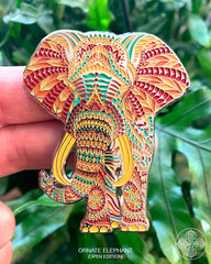 Ornate Elephant Pin