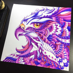 Ornate Hawk-Eagle Hand Embellished (Edition of 3)