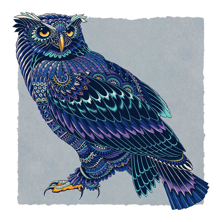 Ornate Owl Art Print (Edition of 19)