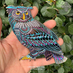 Ornate Sky Owl Pin (Edition of 50)