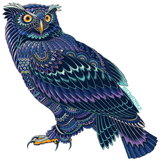 Ornate Owl Sticker
