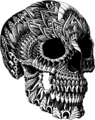 Ornate Skull Sticker