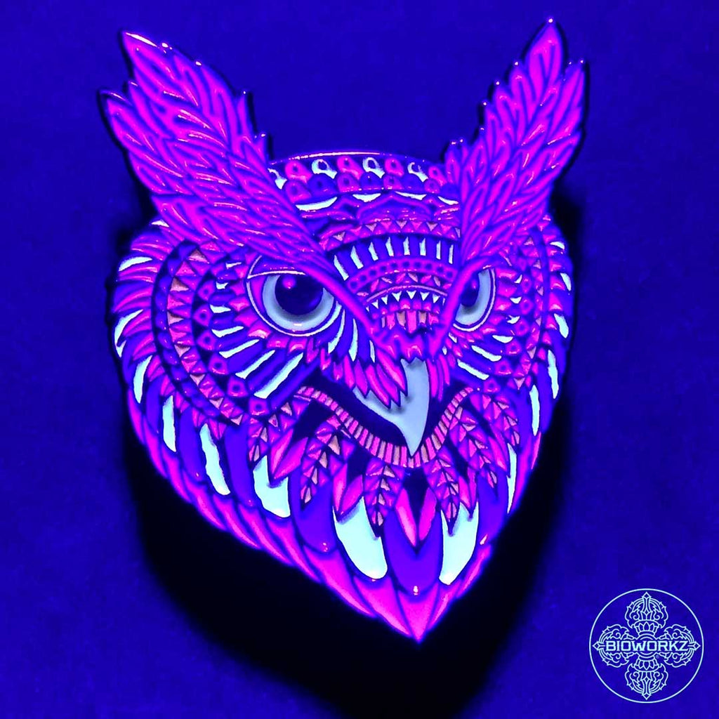 Winter Owl Head Pin