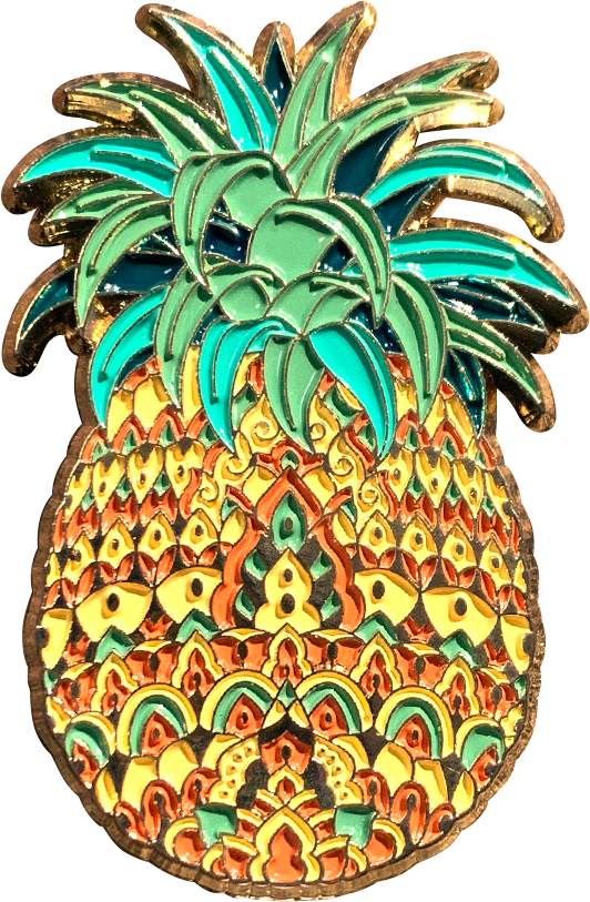 Ornate Pineapple Pin