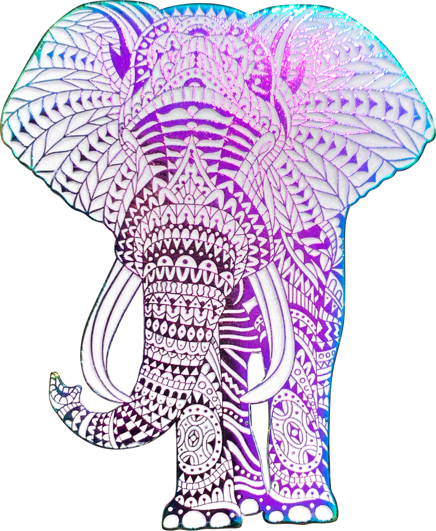Rainbow Elephant Pin