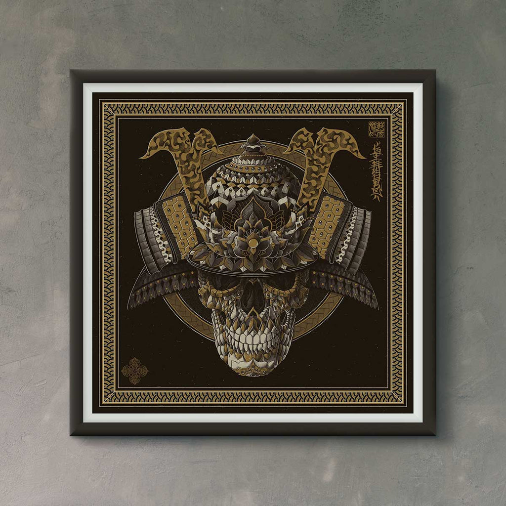 Samurai skull edition of 100
