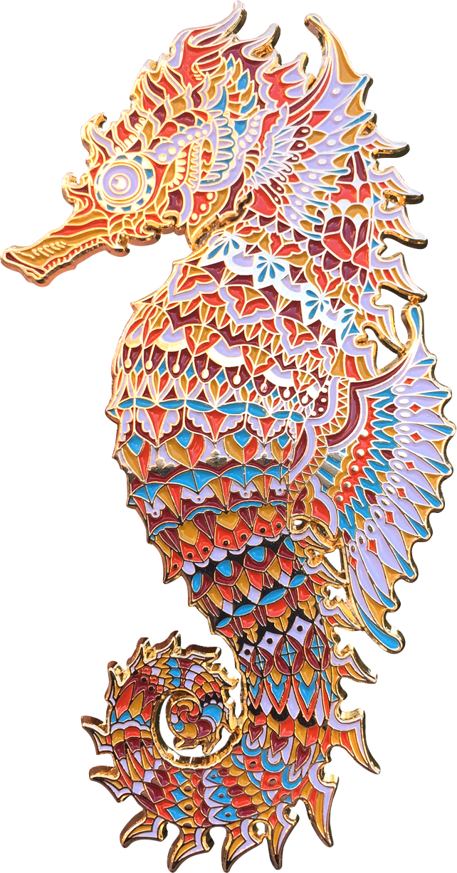 Sunset Seahorse Pin (Edition of 100)