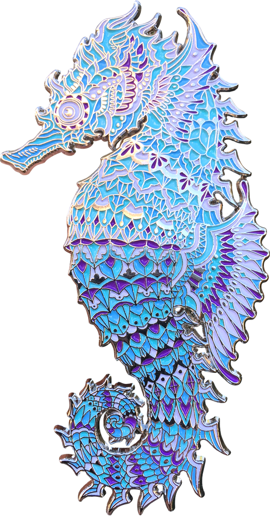 Crystal Seahorse Pin (Edition of 75)