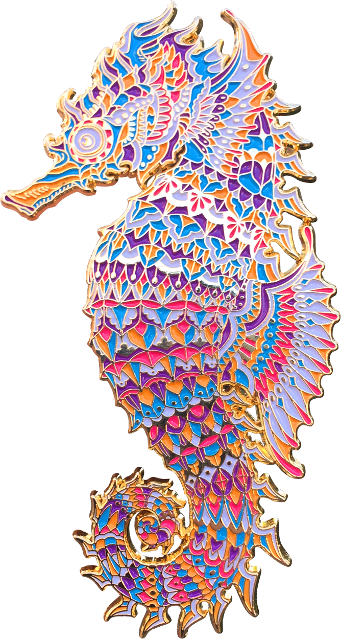 Carnival Seahorse Pin (Edition of 50)