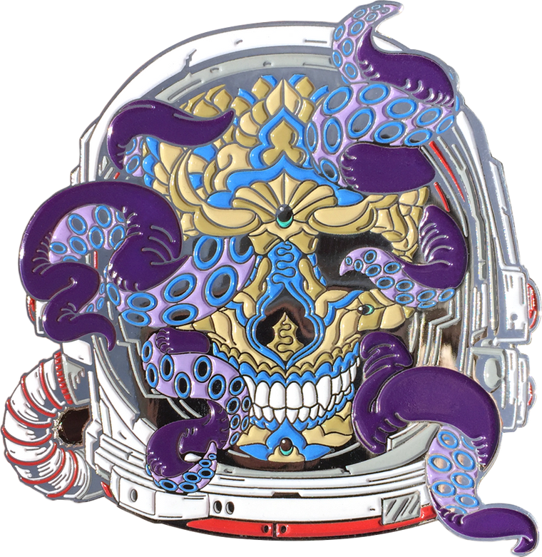 Space Skull Pin (Edition of 100)
