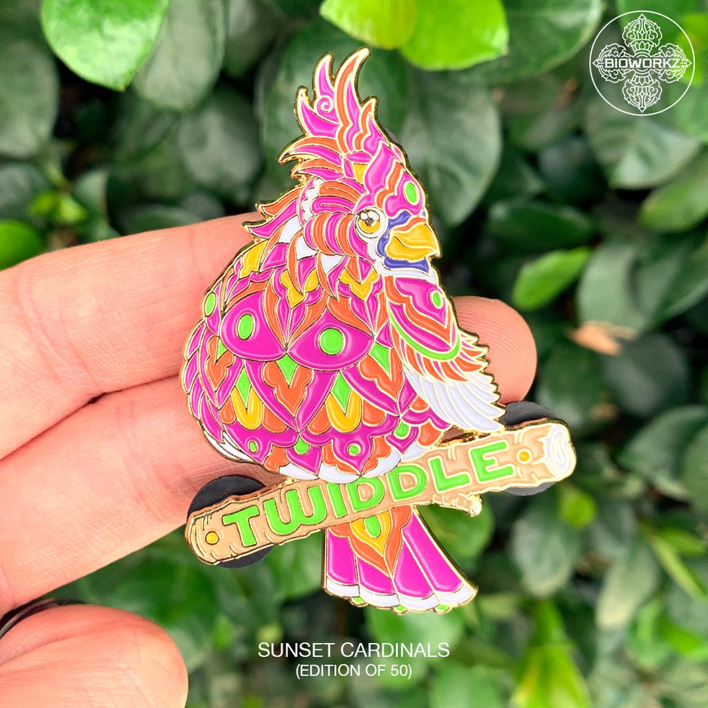 Sunset Cardinal Twiddle Pin (Edition of 50)