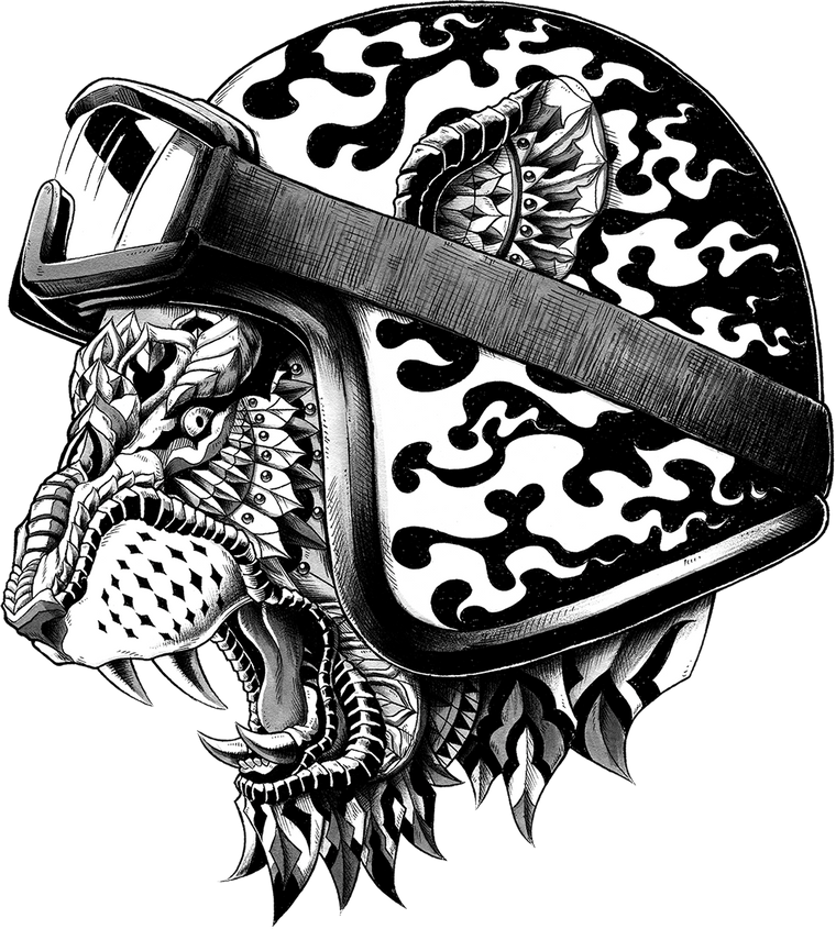 Tiger Helm Sticker