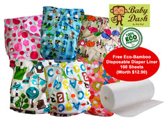 Baby Dash Economy Cloth Diapers - Pack of 3 or 6