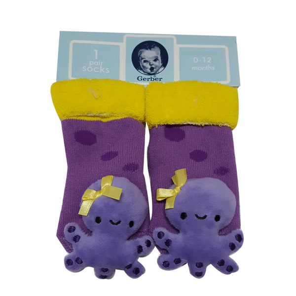 "Animal ""Rattle"" Socks - Octopus Special Offer"