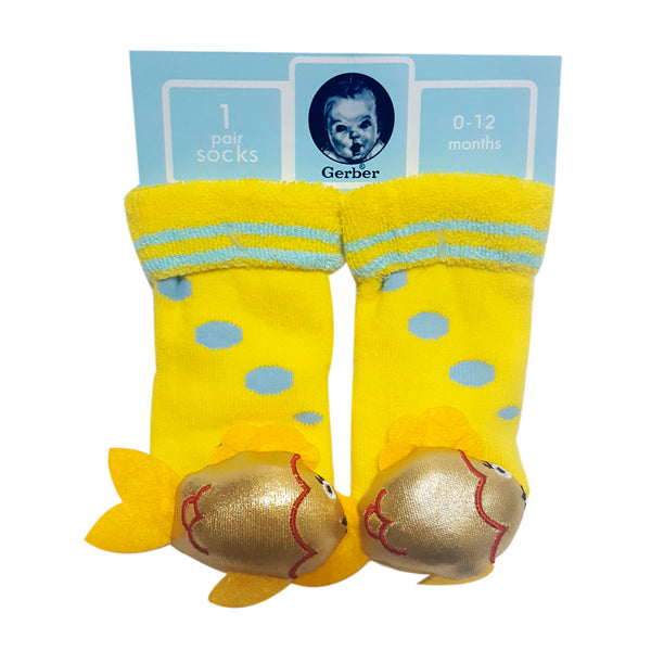 "Animal ""Rattle"" Socks -   Gold Fish Special Offer"