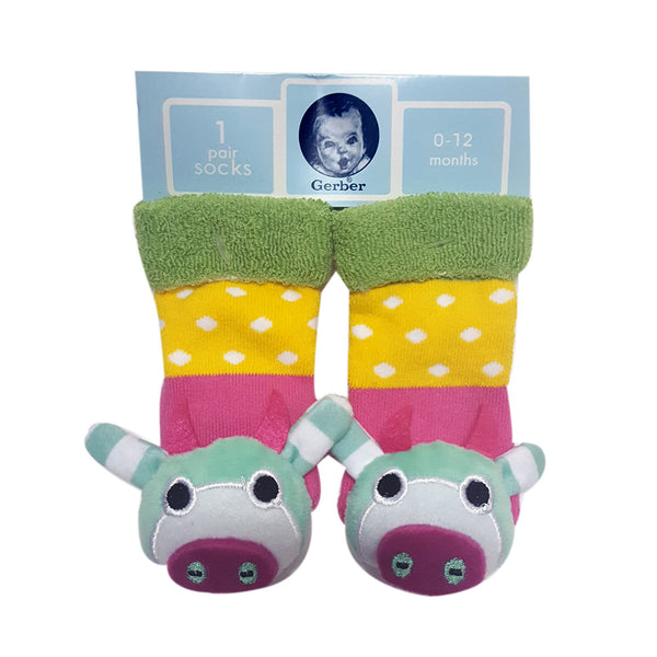"Animal ""Rattle"" Socks -   Cow Special Offer"