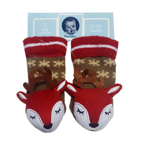 "Animal ""Rattle"" Socks - X'mas Reindeer Special Offer"