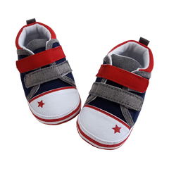 Levi (Pre-Walker Shoes) -  B102 Navy/Red