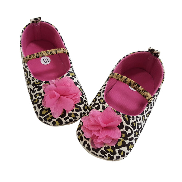Phoebe (Pre-Walker Baby Shoes) - B105 Leopard Print