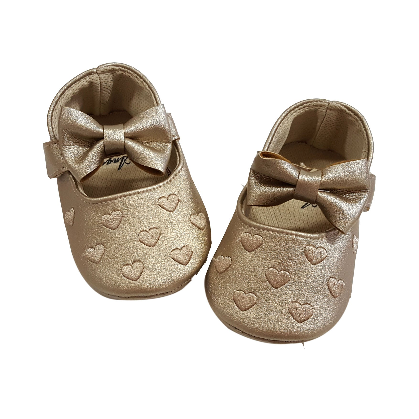 Millie (Pre-Walker Shoes) - B111 Gold Hearts