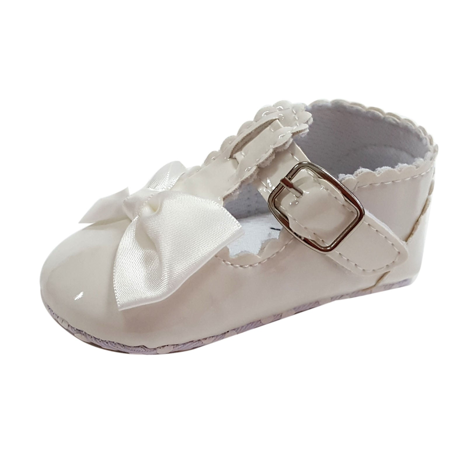Francesca (Pre-Walker Shoes) - B121 White Patent