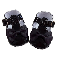 Francesca (Pre-Walker Baby Shoes) - B121 Black Patent