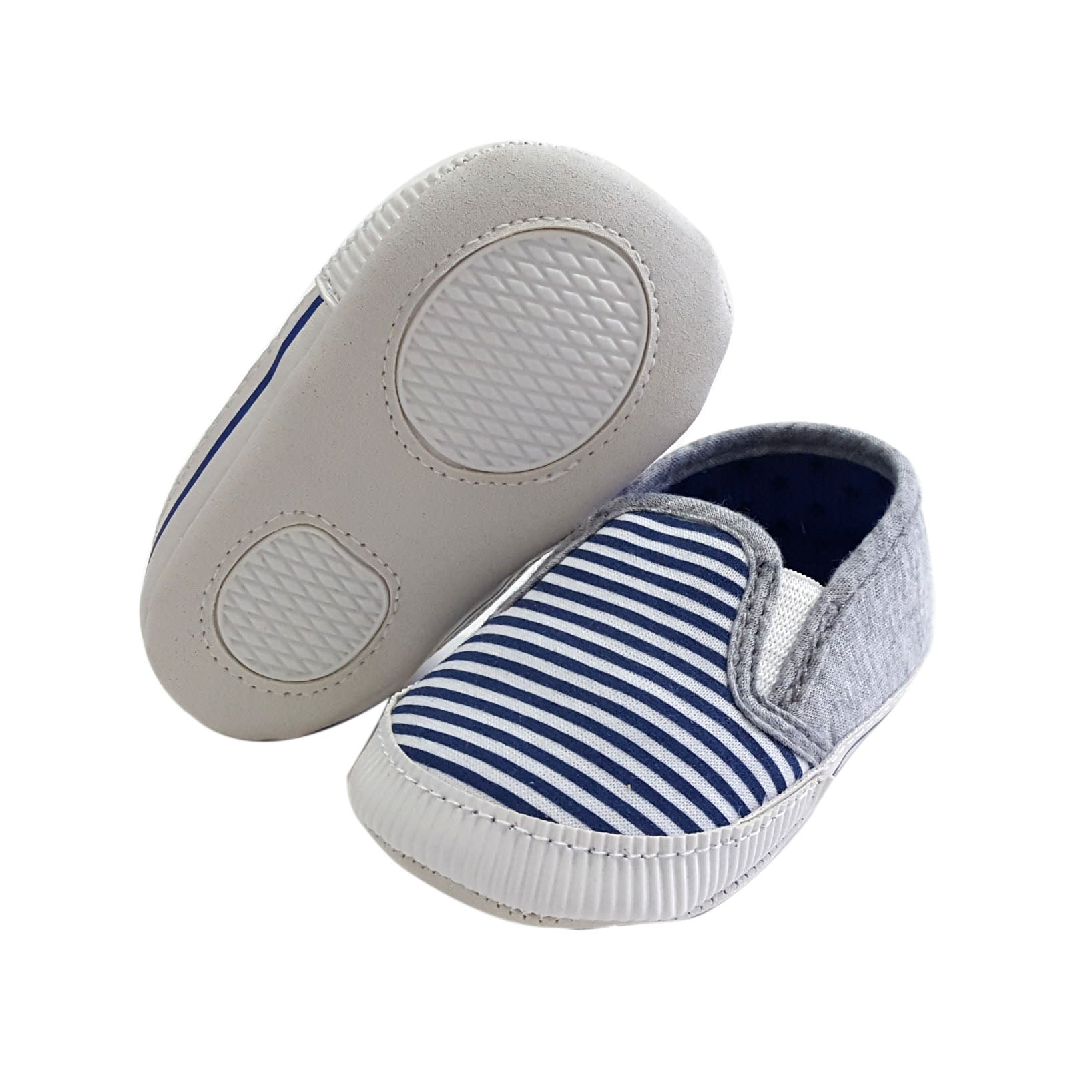 Noah (Pre-Walker Baby Shoes) - Blue/Grey Special Offer