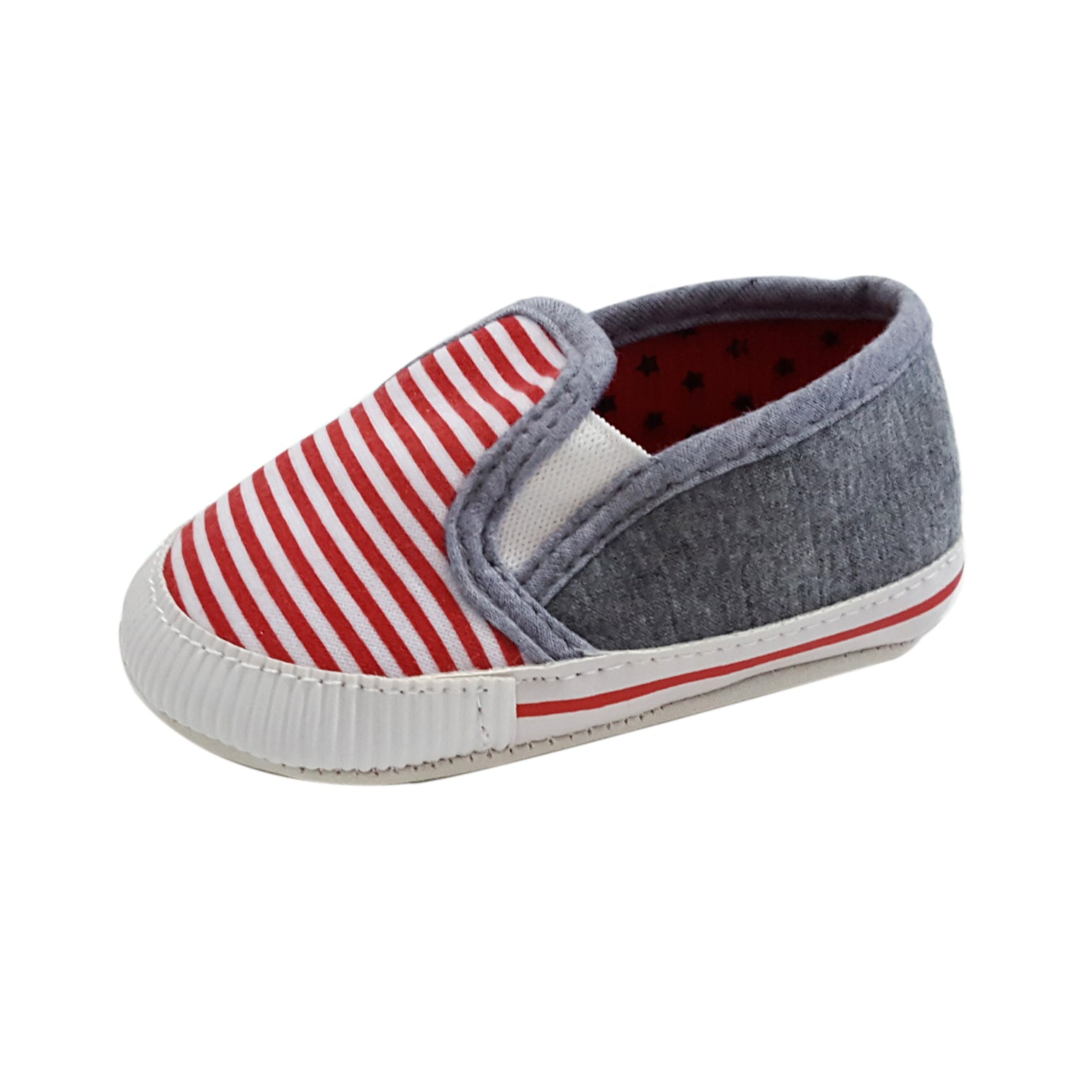 Noah (Pre-Walker Baby Shoes) - Red/Grey Special Offer
