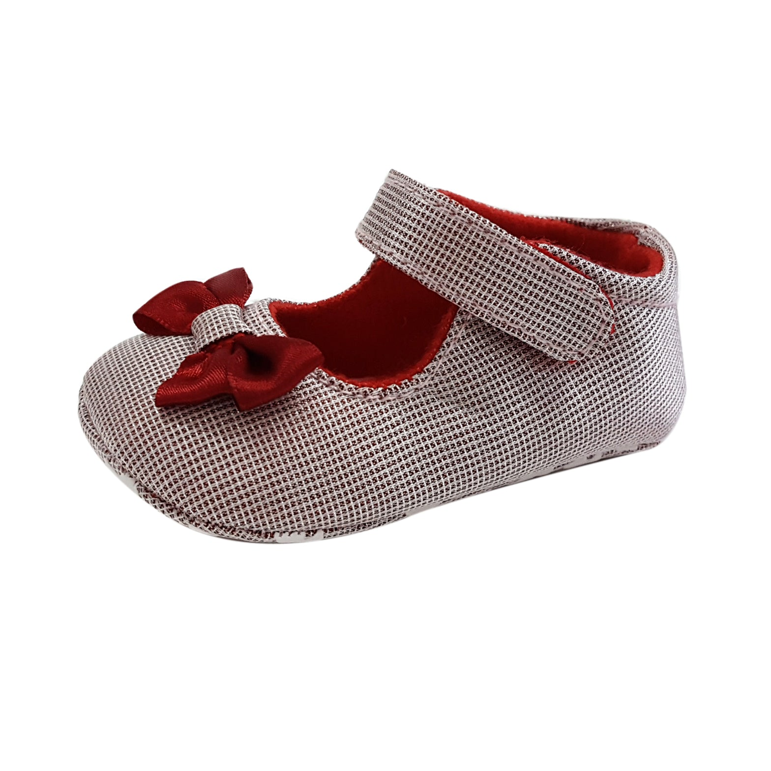 Nadine (Pre-Walker Shoes) - B144 Red Ribbon