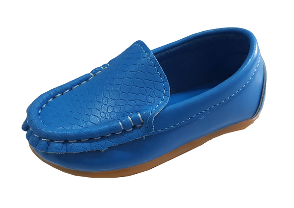 S168 Moccasin Softee Blue (EU21-25)