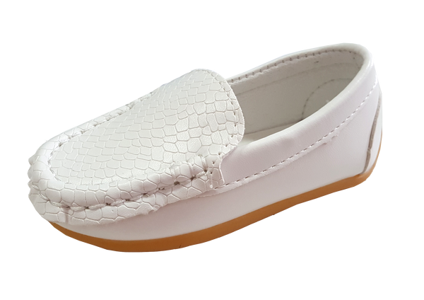 S168 Moccasin Softee White EU21-25