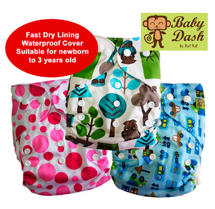 Baby Dash Economy Cloth Diapers - Pack of 3