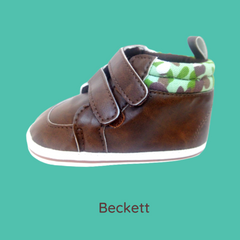 Beckett (Pre-Walker Shoes) - Brown Leather