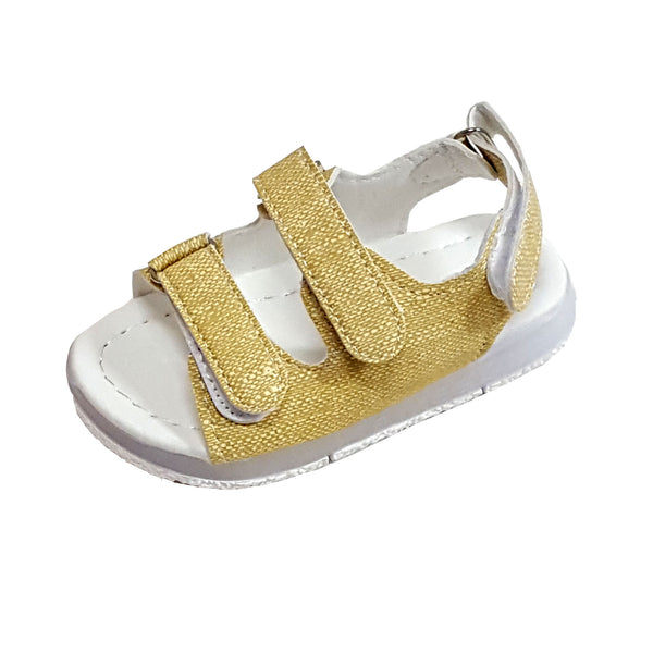 L205 Prodence Beige LED Lighted Sandals (2-6 years)