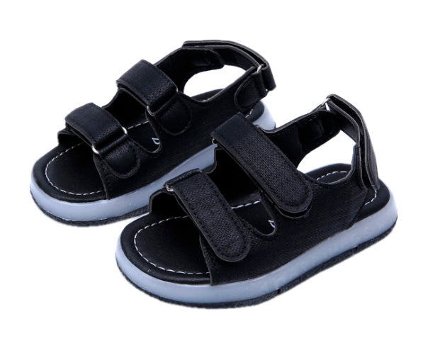 L205 Prodence Black LED Lighted Sandals (Aug New Arrival)