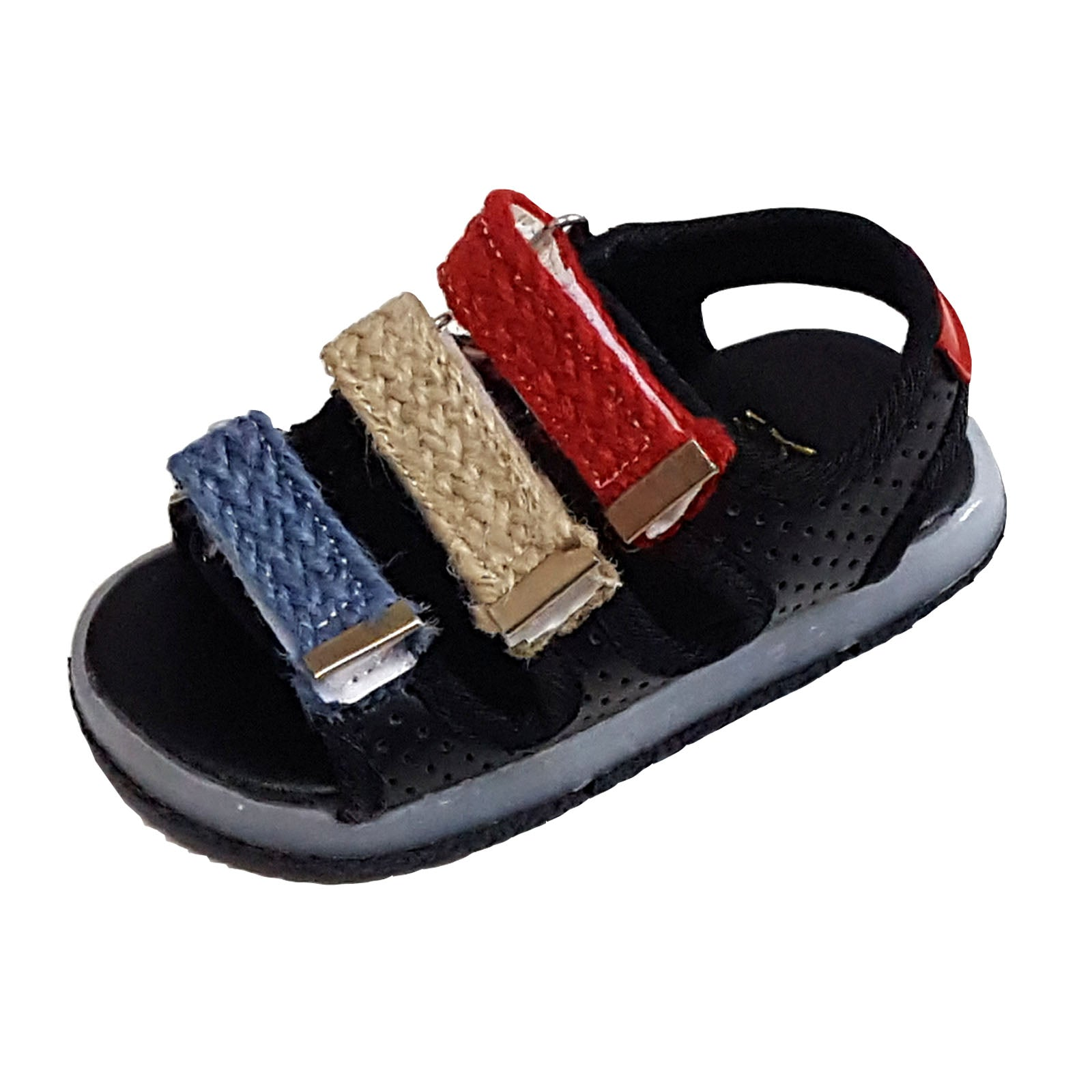 L206 Marineford Black Anti-Slip Sandals