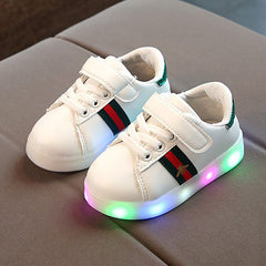 L208 Birka Green LED Lighted Shoes (1-6y)