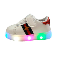 L208 Birka Red LED Lighted Shoes (1-6y)