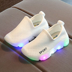 L214 Cozia White LED Lighted Shoes