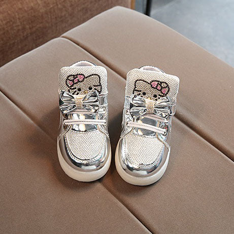 L218 Pertia Silver LED Lighted Shoes (1-3y)