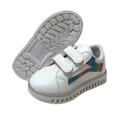 L255 Rainbow LED Lighted Shoes (1-6y) New!