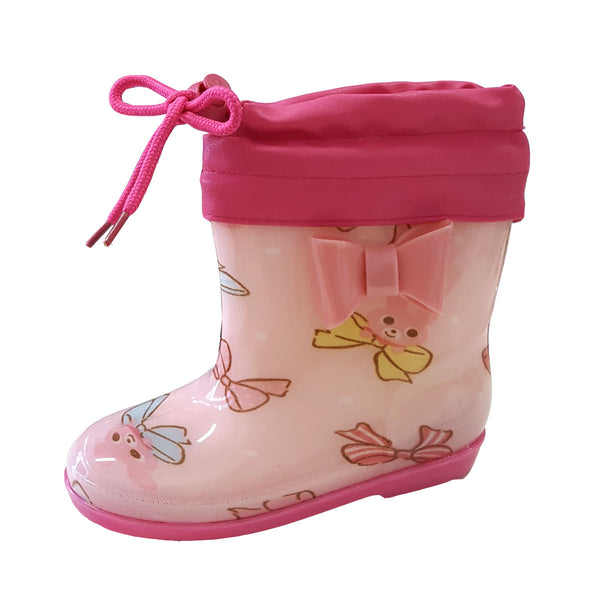 Rainboots R05 Pink Ribbon (2-6y)