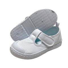 S189 Simple White School Shoes (Girls)