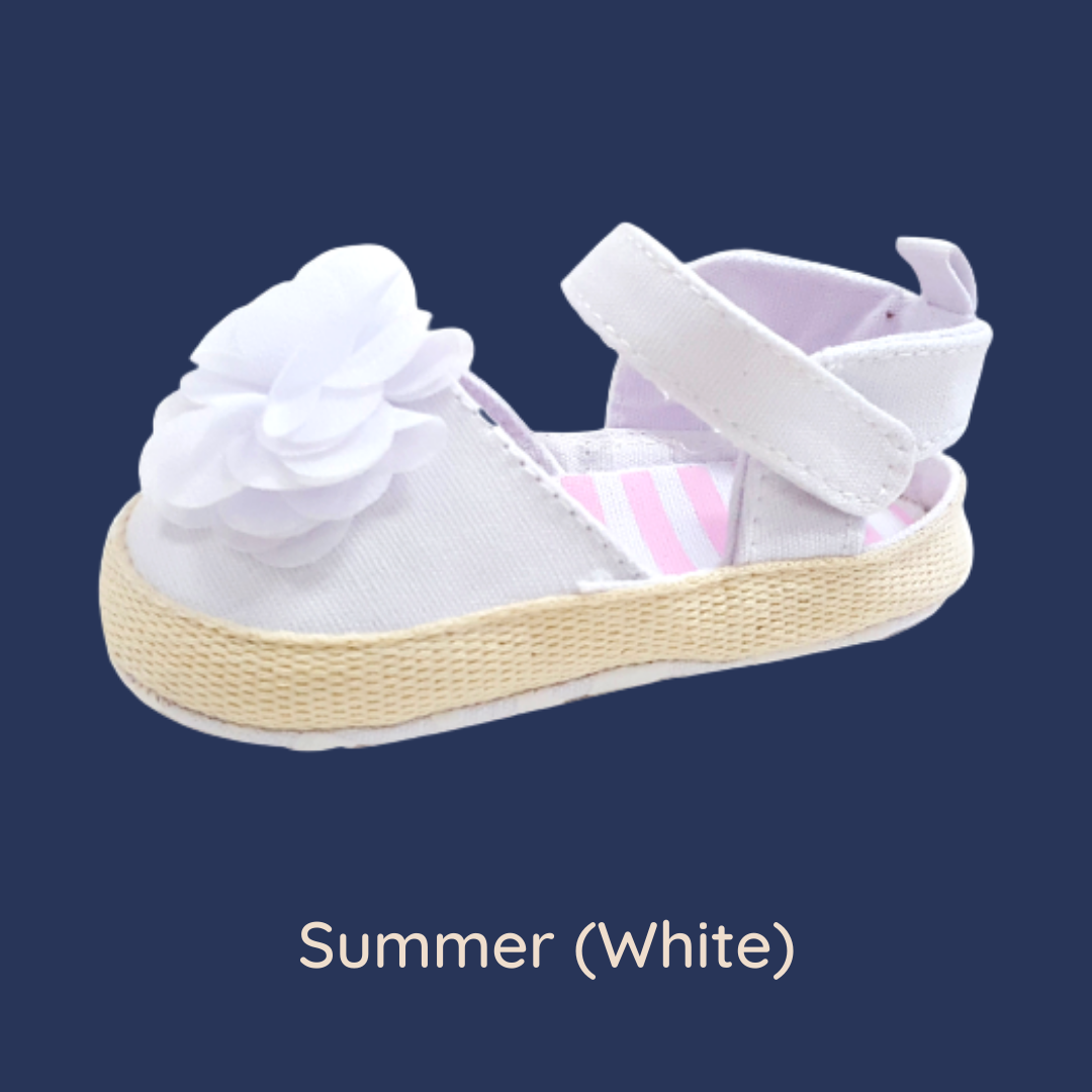 Summer (Pre-Walker Shoes) - B141 White Sandal