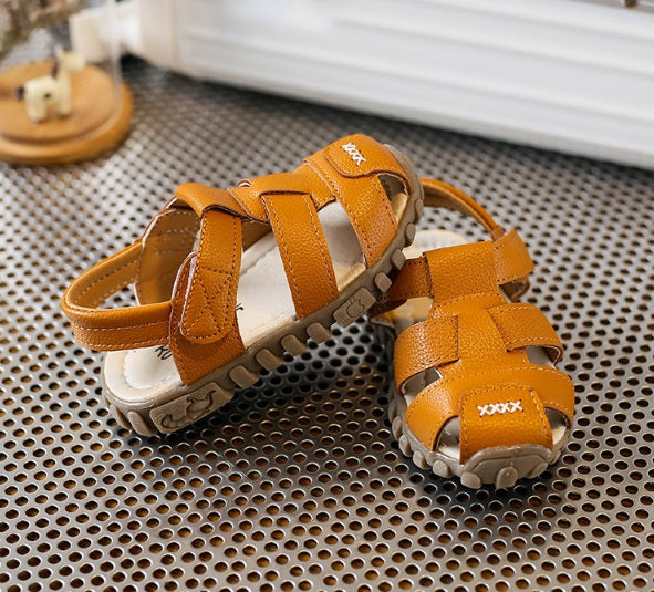 TL84 Leather Sandals Brown (EU21-30) Restocked!