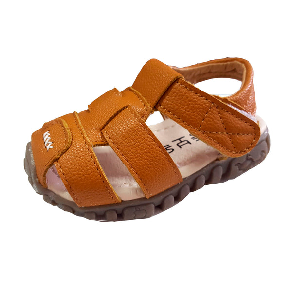 TL84 Leather Sandals Brown (EU21-30) (Aug New Arrival)