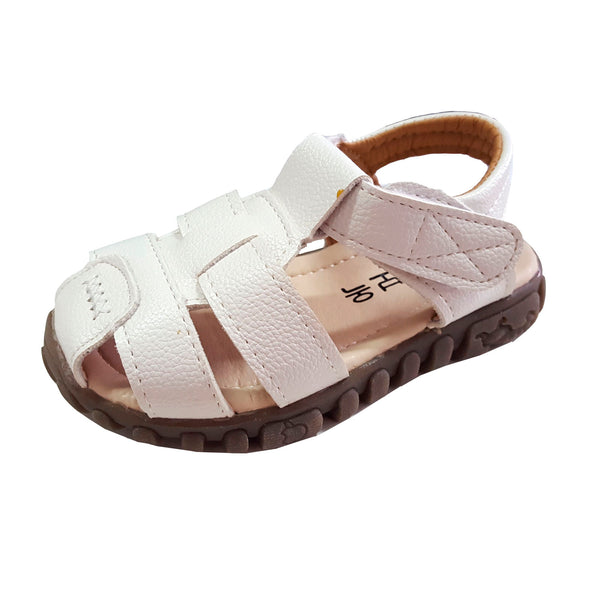 TL84 Leather Sandals White (EU21-30) (Aug New Arrival)