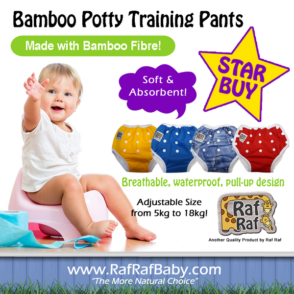 Bamboo Potty Training Pants - Adjustable Size