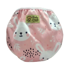 Adjustable Swim Diaper Cum Waterproof Diaper Cover - Bunny