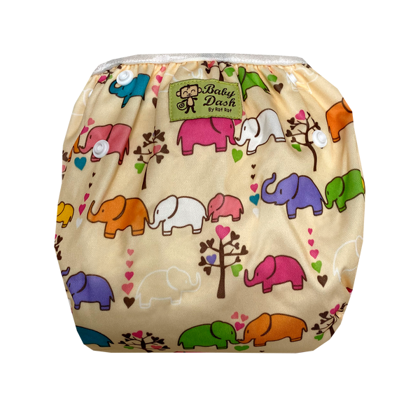 Size Adjustable Swim Diaper - Beige Elephant